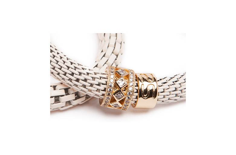 THE SNAKE STRASS BRIDAL | CREAM & GOLD PLATED