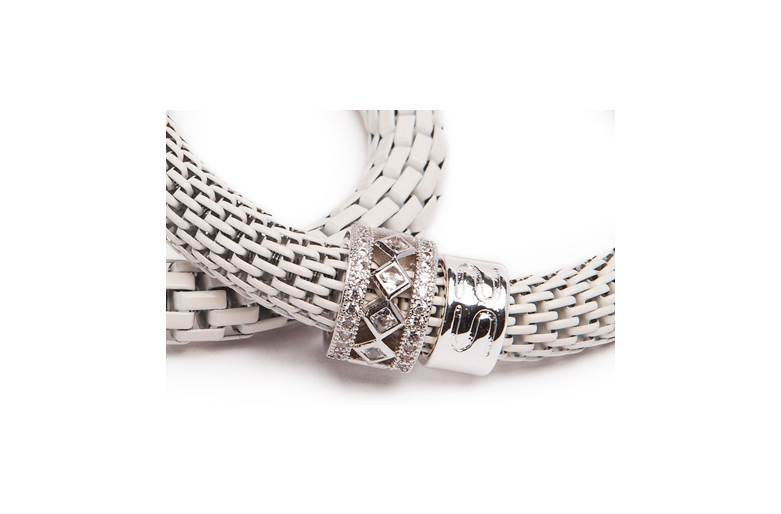 THE SNAKE STRASS BRIDAL | OFF WHITE & SILVER PLATED