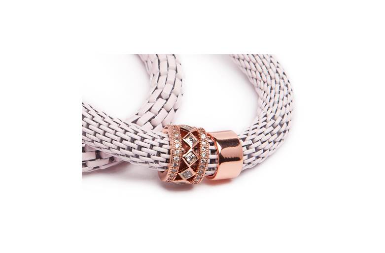 THE SNAKE STRASS BRIDAL | POWDER PINK & PINK GOLD PLATED