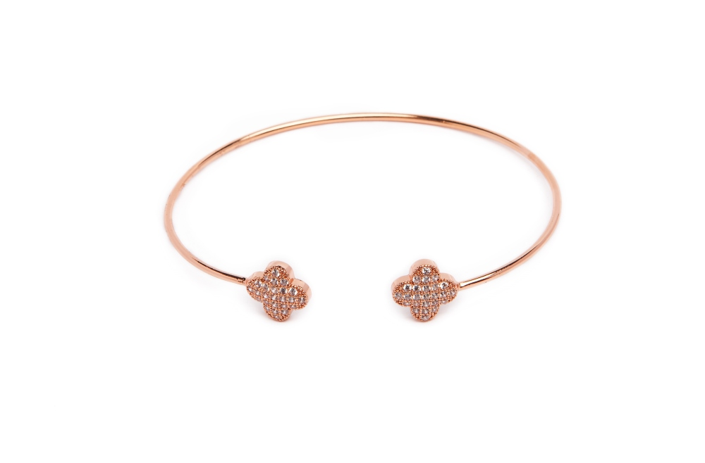 The Esclave Good Luck Rosé All Day | Silis Clamp Cuff Bracelet