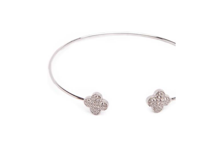 The Esclave Good Luck So Silver | Silis Clamp Cuff Bracelet
