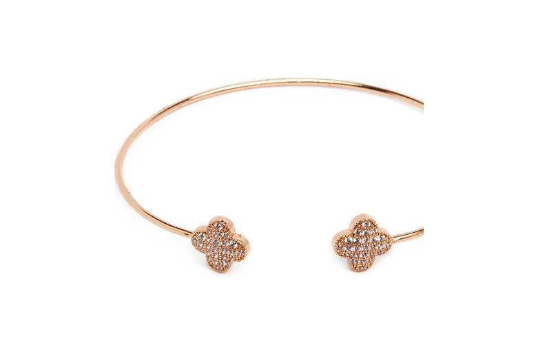 The Esclave Good Luck Gold Out | Silis Clamp Cuff Bracelet