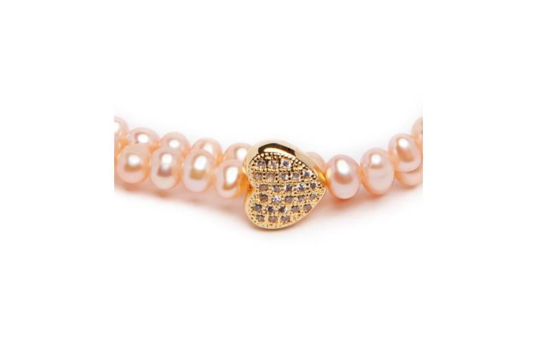 THE PEARL WRAP | LIGHT PEACH & PINK GOLD