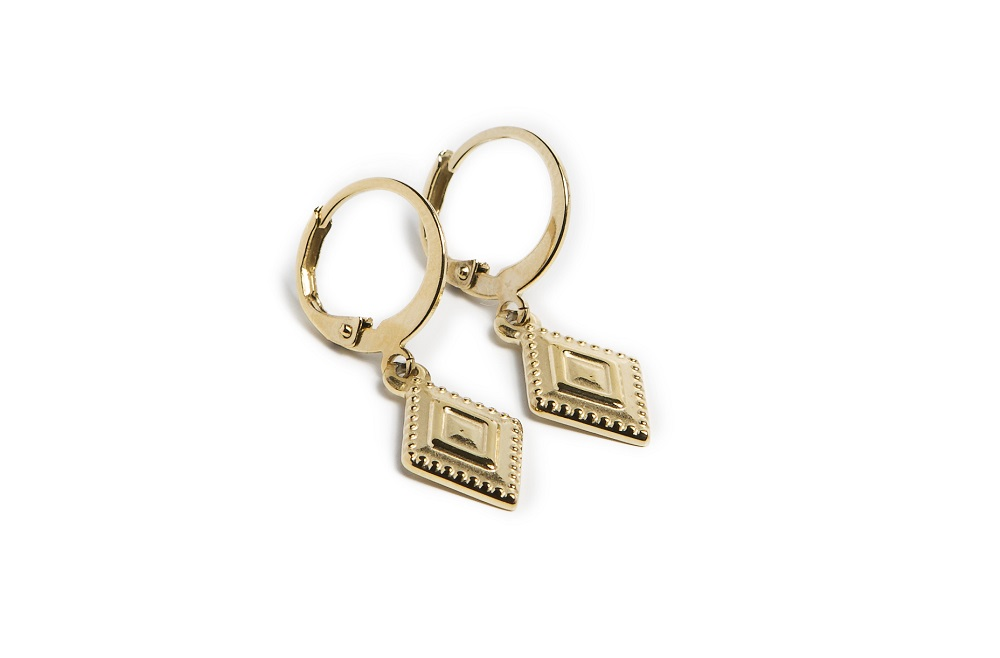 The Earrings Square Gold Out | Silis Charm Earrings