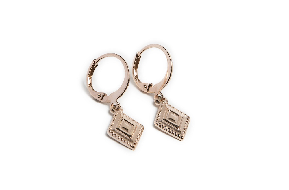 The Earrings Square Rosé All Day | Silis Charm Earrings