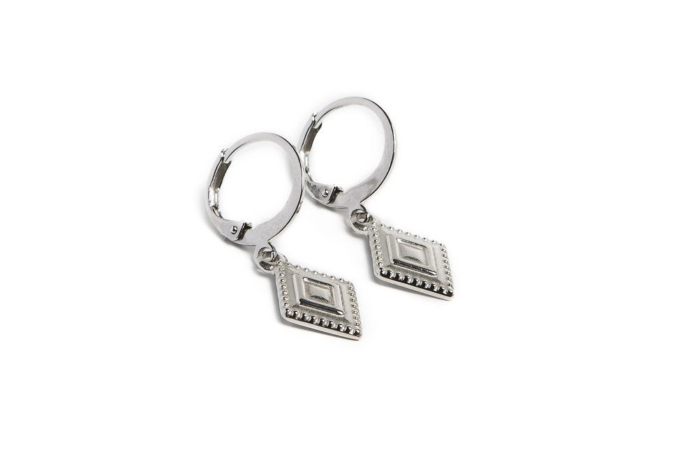The Earrings Square So Silver | Silis Charm Earrings