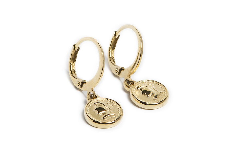 Earrings Mini Coin | Gold Out | Silis Oorbellen