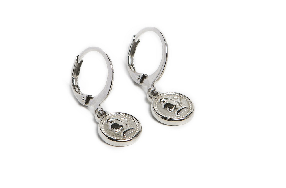 EARRINGS MINI COIN | SO SILVER | SILIS OORBELLEN