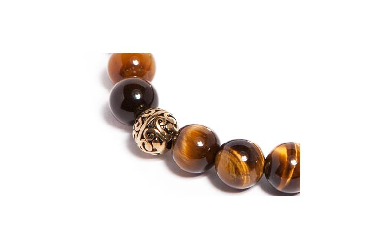MR STONE | TIGER EYE & GOLD PLATED