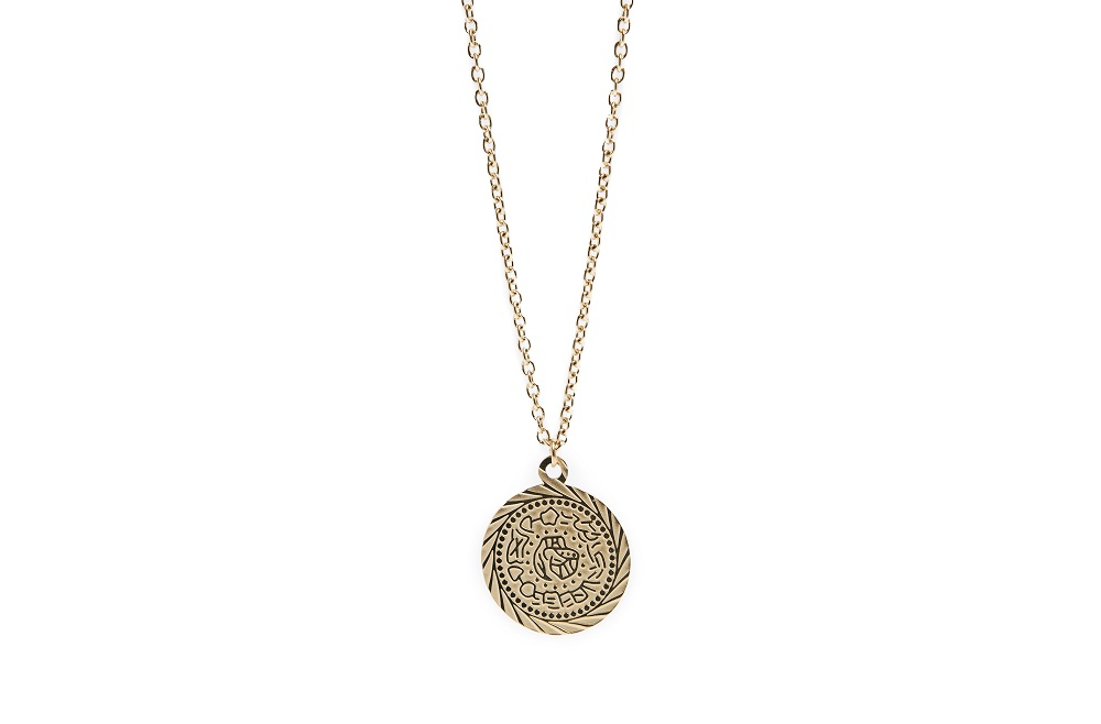 The Necklace Gypsy Coin Gold Out | Silis Coin Charm Necklace