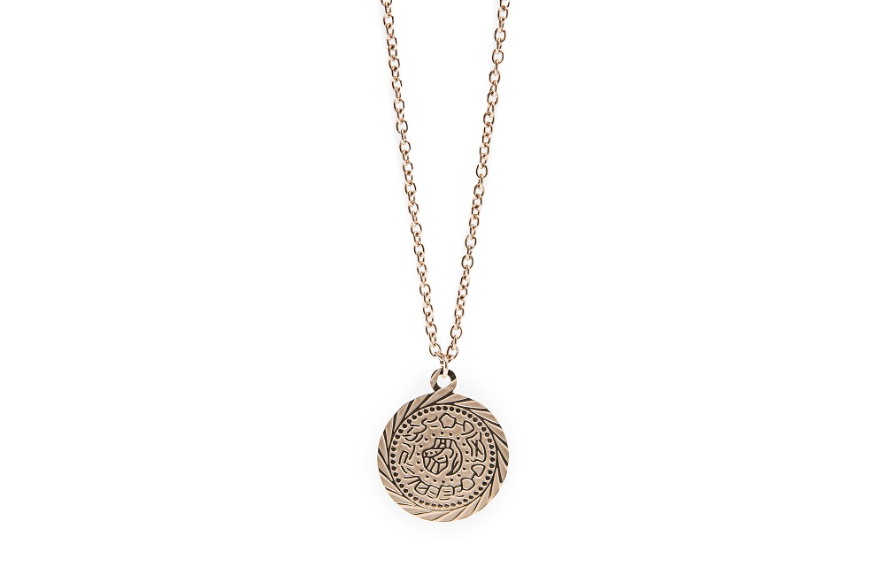 The Necklace Gypsy Coin Rosé All Day | Silis Coin Charm Necklace