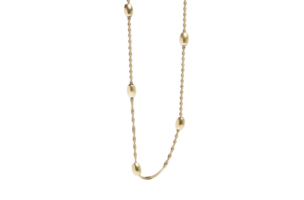The Necklace Bean Gold Out | Silis Chain Necklace