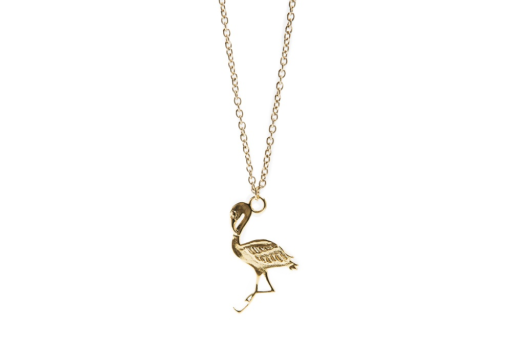The Necklace Flamingo Gold Out | Silis Charm Necklace