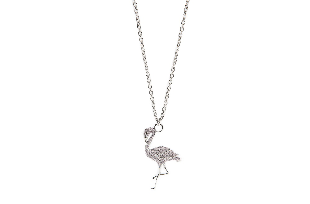 The Necklace Flamingo So Sliver | Silis Charm Necklace