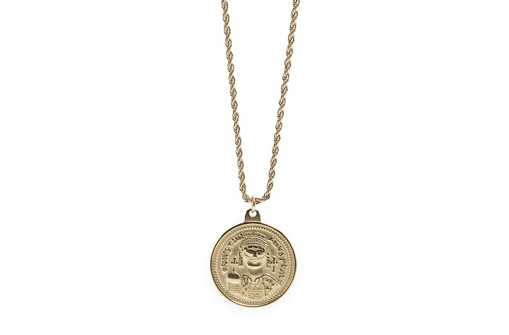 The Necklace Coin XL Gold Out | Silis Coin Charm Necklace