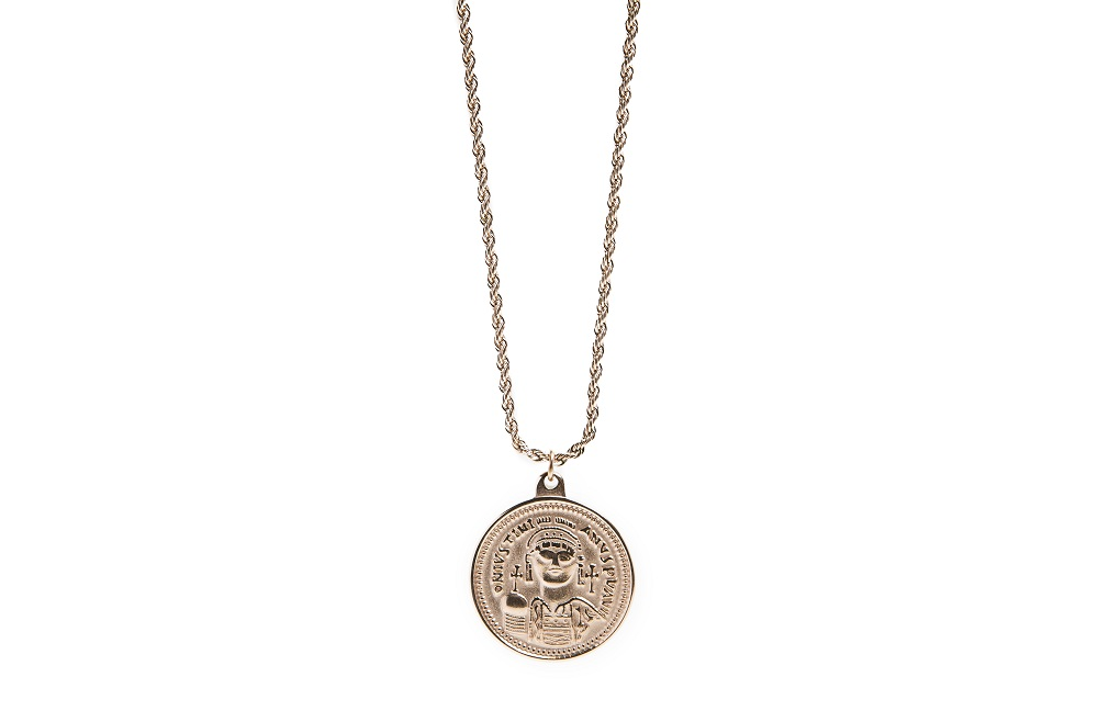 The Necklace Coin XL Rosé All Day | Silis Coin Charm Necklace