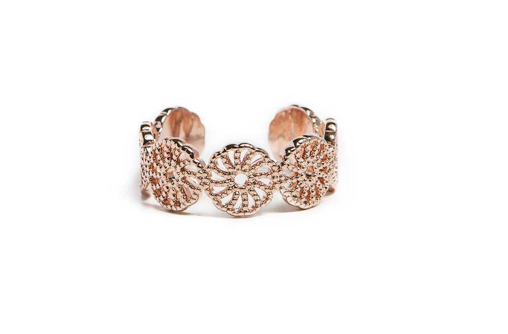 The Ring Gypsy Rosé All Day | Silis Statement Ring One Size