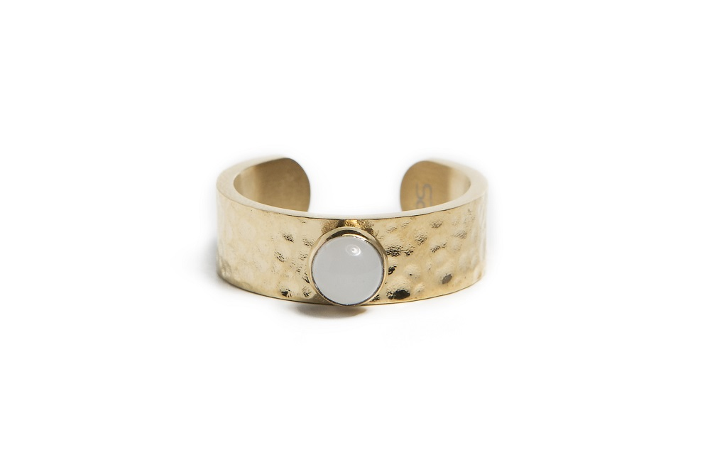 The Ring Gypsy Stud Gold Out | Silis Stone Ring One Size