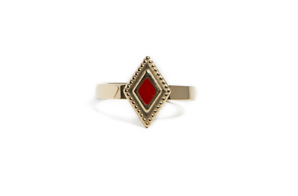 RING SQUARE | GOLD OUT | SILIS RING