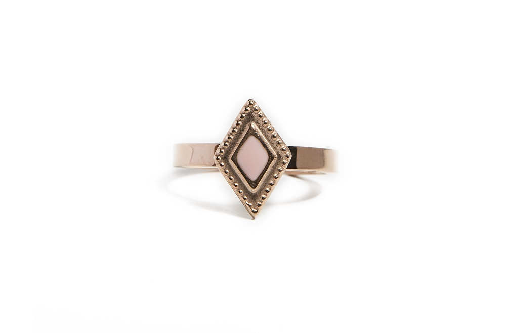 The Ring Square Rosé All Day | Silis Stone Ring One Size