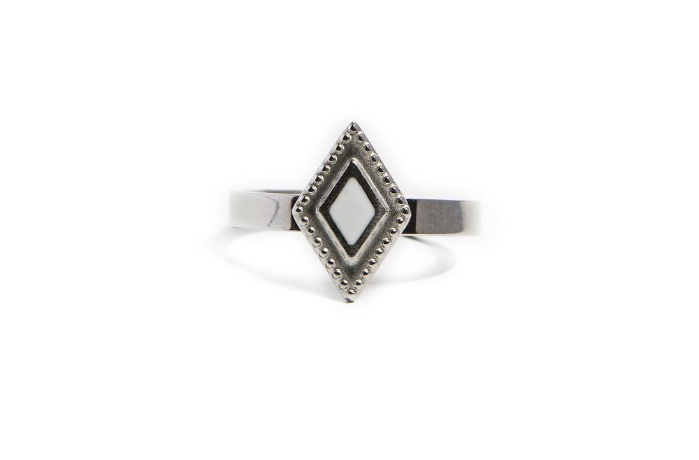 The Ring Square So Silver | Silis Stone Ring One Size