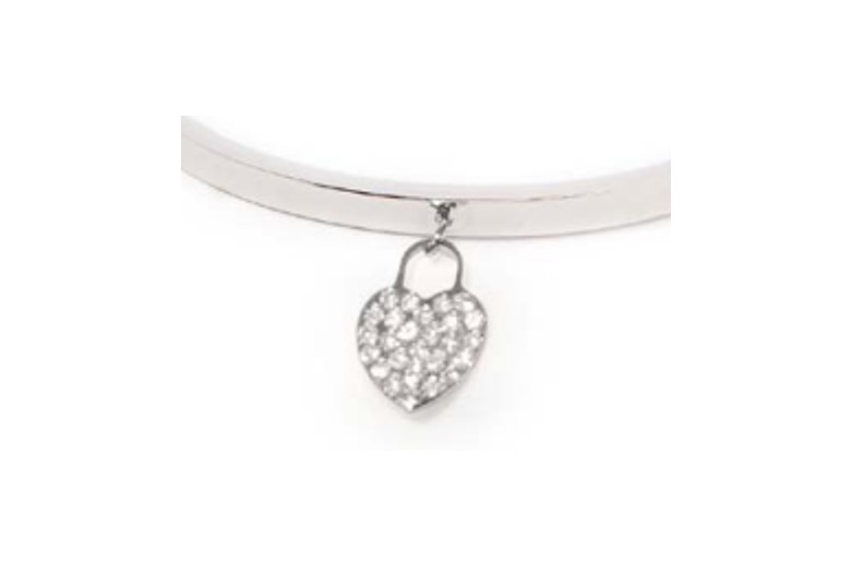 The Bangle Strass Heart So Silver | Silis Bracelet