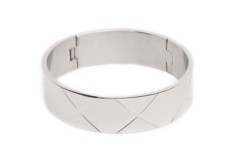 THE BANGLE XL CARRÉ | SO SILVER