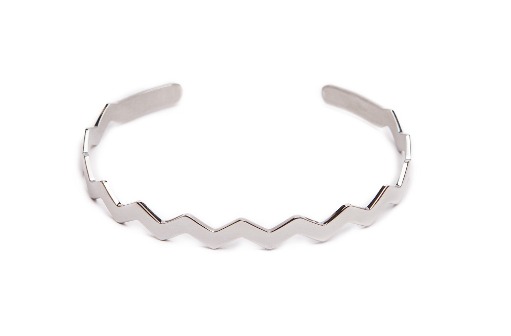 The Esclave Zig-Zag So Silver | Silis Clamp Cuff Bracelet