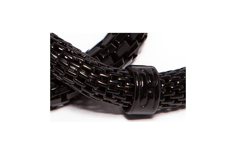 The Snake Metal Ø8mm Classic Black | Silis Bracelet