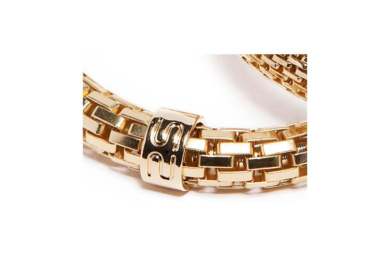 The Snake Metal Ø8mm Gold Out | Silis Bracelet