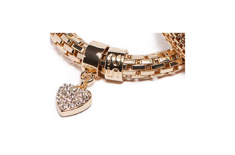 THE SNAKE METAL STRASS | GOLD OUT & STRASS HEART