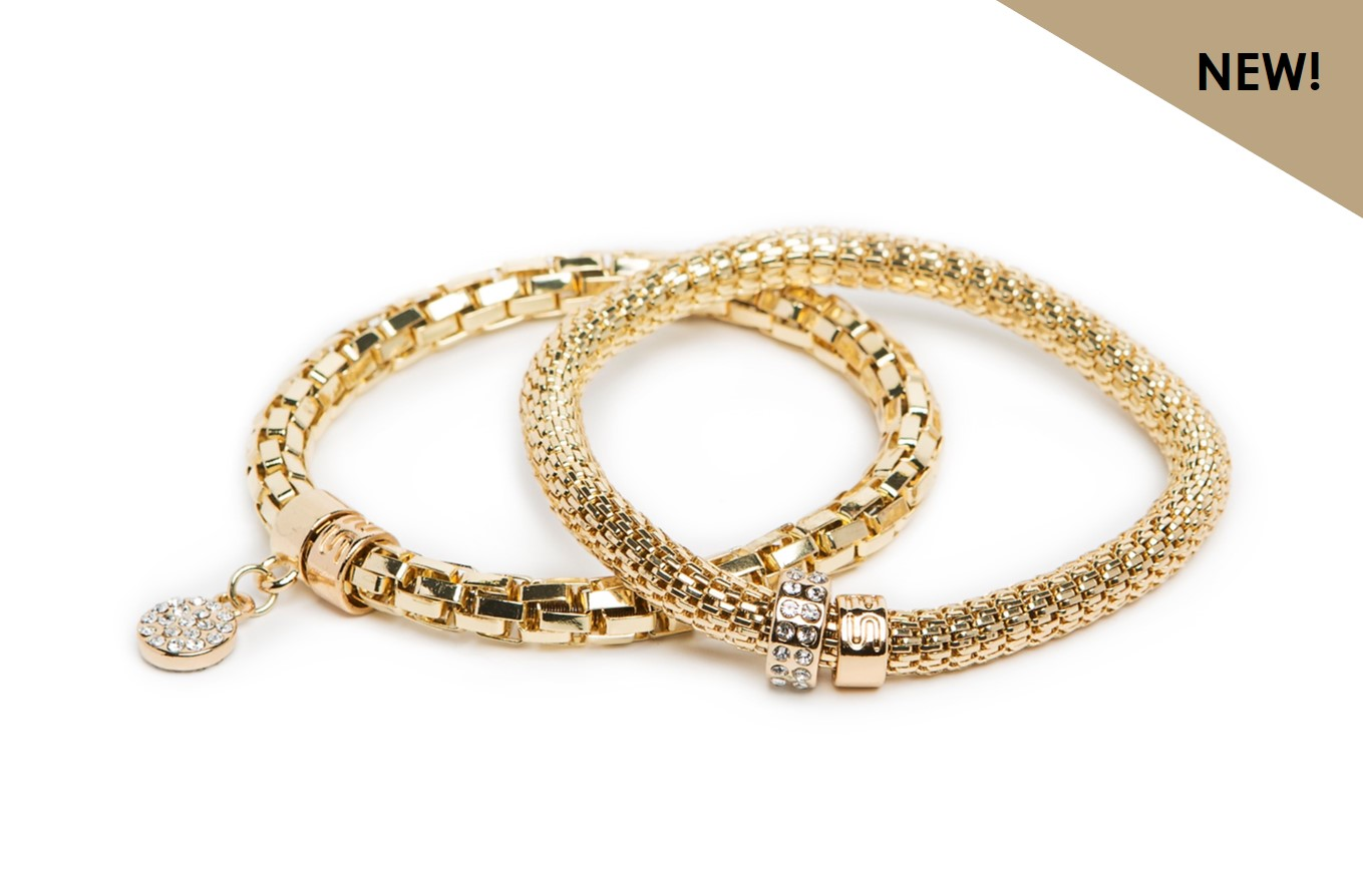 NEW Ø5.5MM THE SNAKE METAL STRASS | GOLD OUT & STRASS HEART