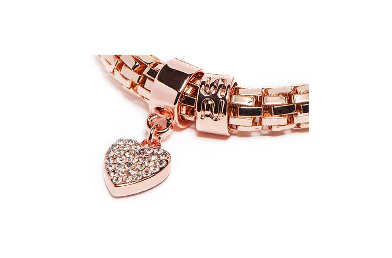 The Snake Metal Strass Rosé All Day & Strass Heart | Silis Bracelet