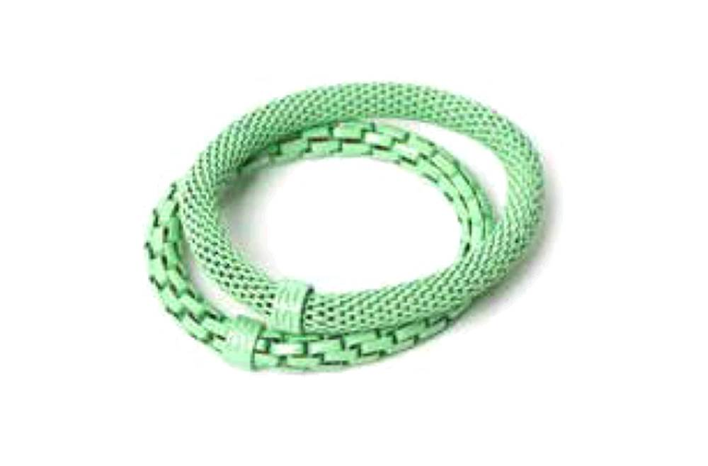 The Snake Mix Green & Green Ring | Silis Bracelet for Girls & Boys