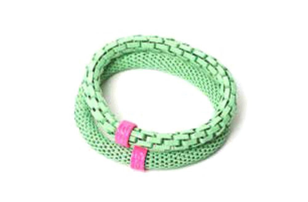 The Snake Mix Green & Pink Ring | Silis Bracelet for Girls