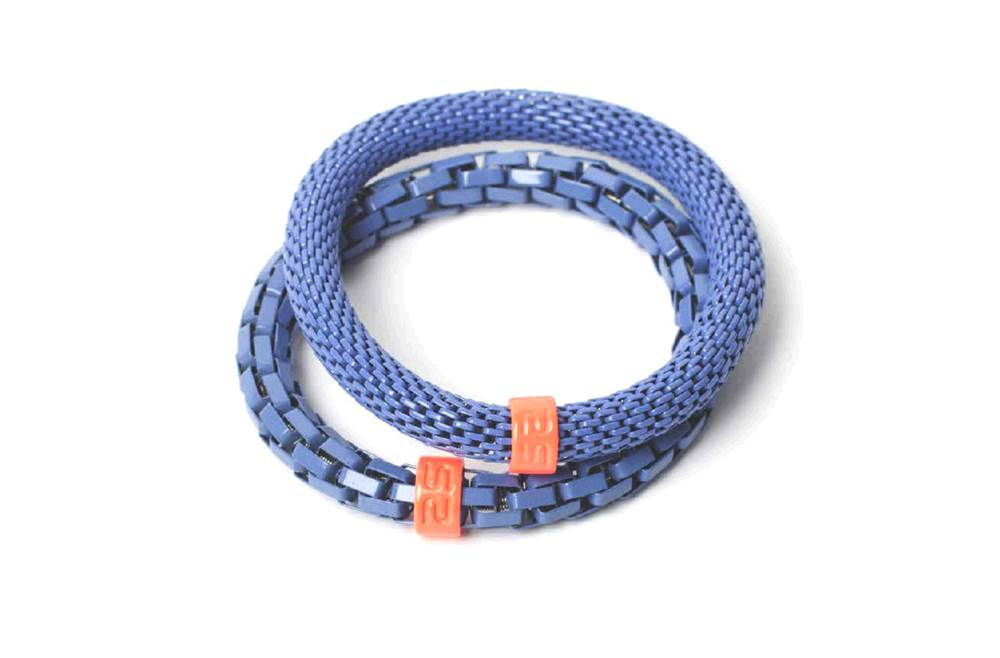 The Snake Mix Purple & Orange Ring | Silis Bracelet for Girls & Boys