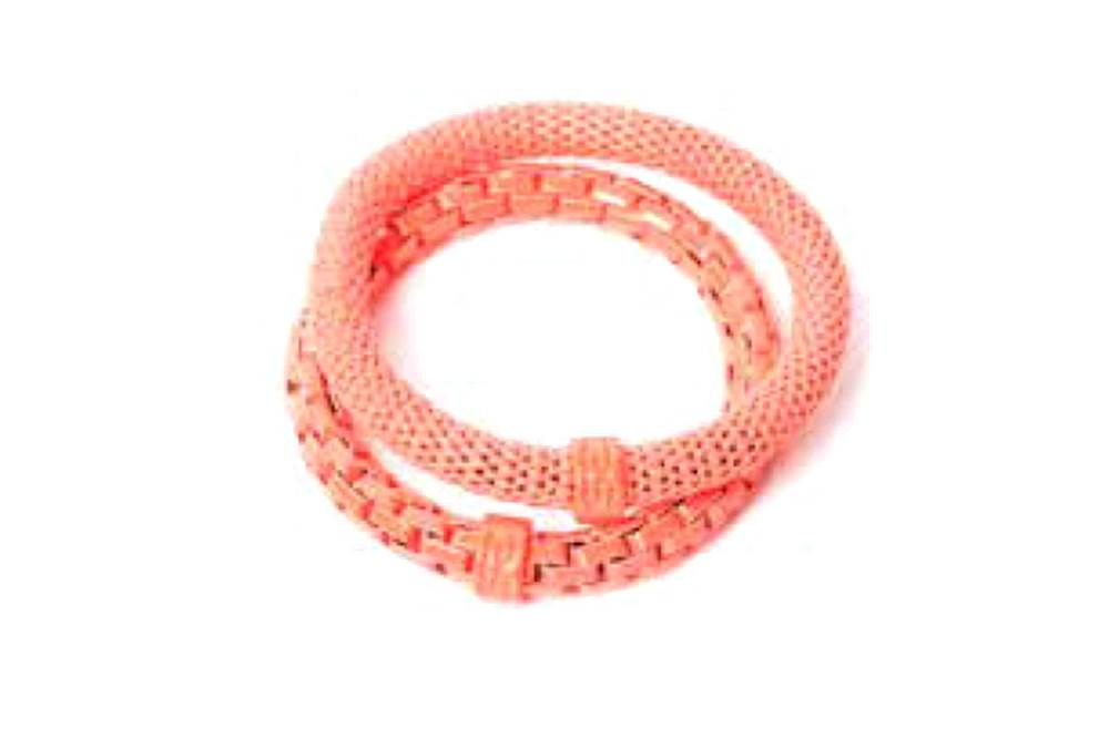 The Snake Mix Orange & Orange Ring | Silis Bracelet for Girls & Boys