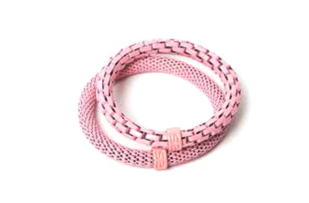 The Snake Mix Soft Pink & Soft Pink Ring | Silis Bracelet for Girls