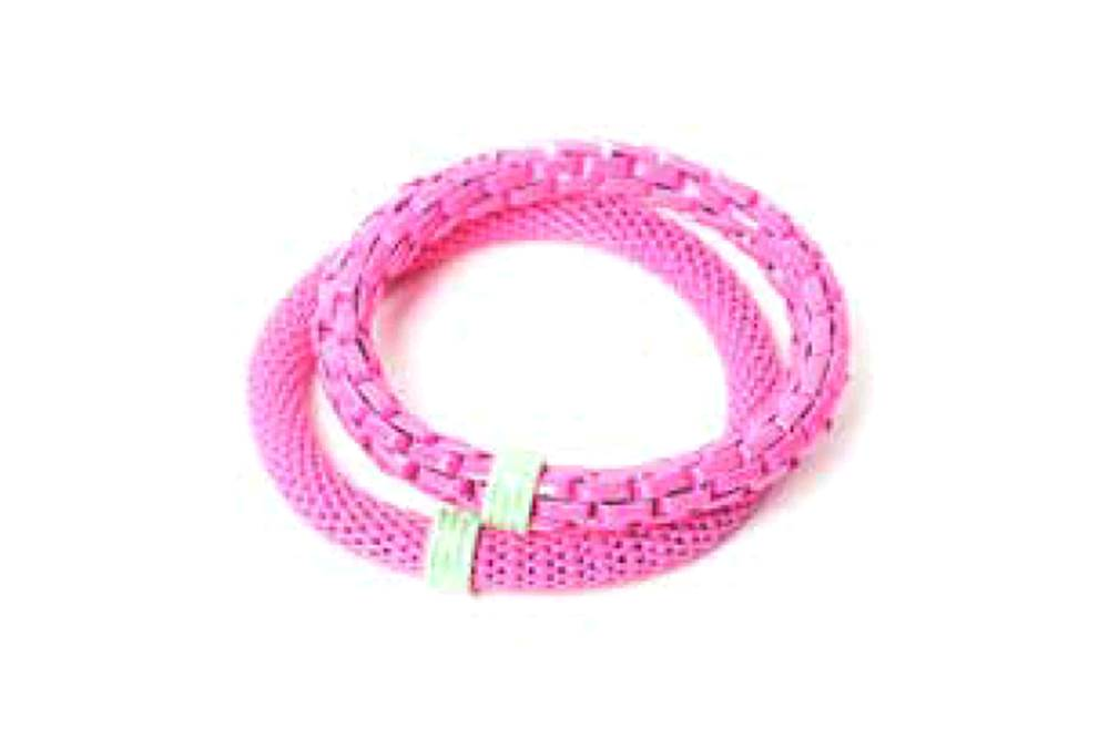 The Snake Mix Pink & Green Ring | Silis Bracelet for Girls