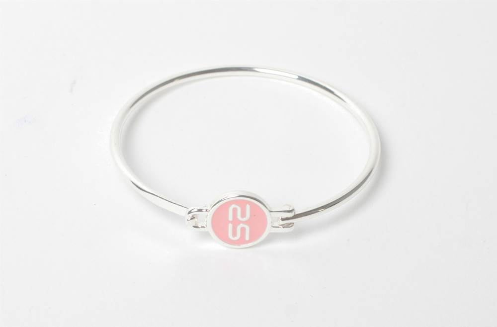 THE BANGLE | SILVER & SOFT PINK