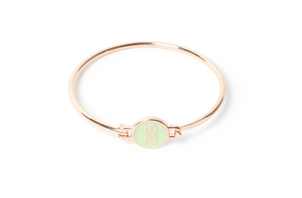 THE BANGLE | GOLD & SOFT GREEN