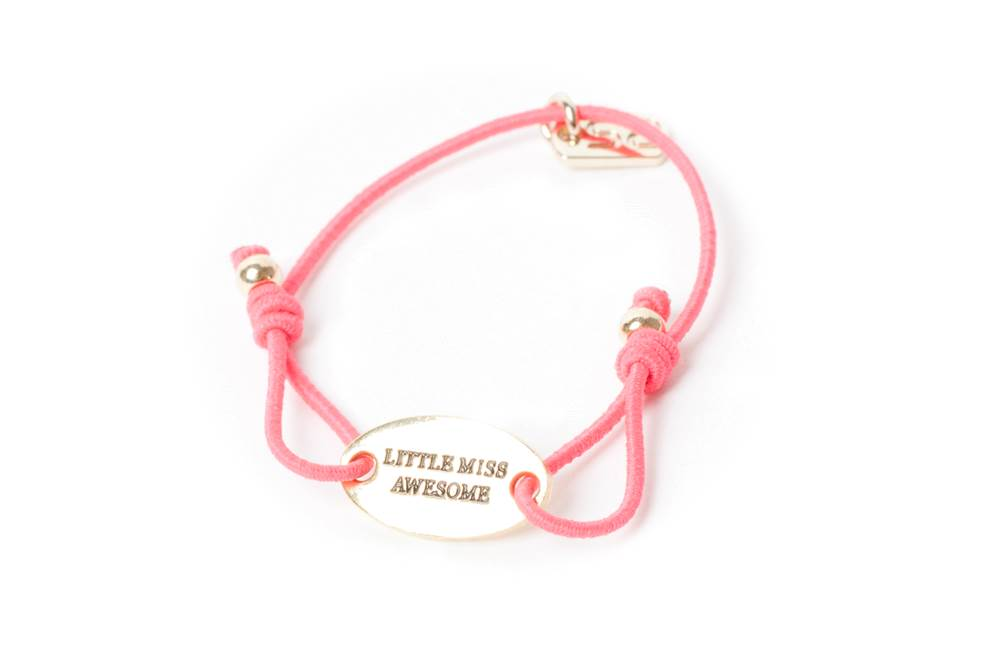 THE ELASTIC | PINK & TEXT LITTLE MISS AWESOME