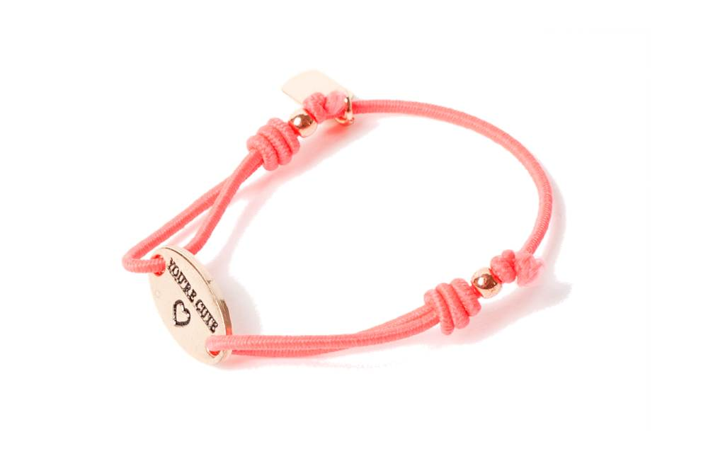 The Elastic Peach & Text You're Cute | Silis Bracelet for Girls