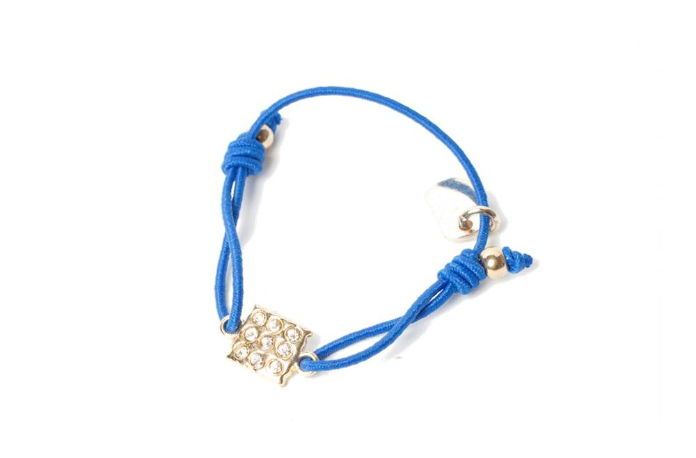 THE ELASTIC | BLUE & CHARM SQUARE STRASS