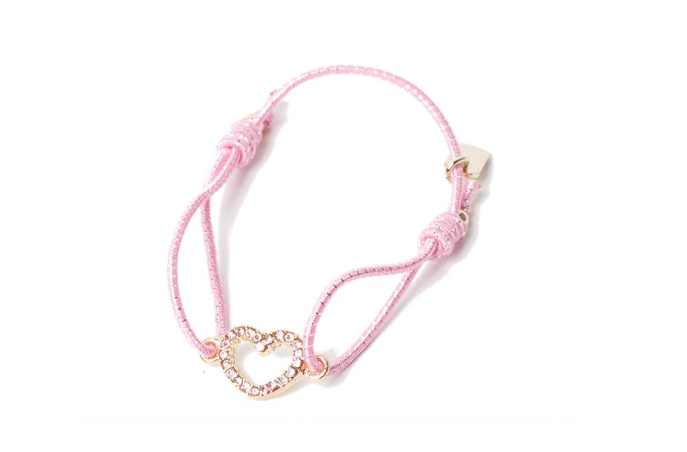 THE ELASTIC | PINK & CHARM HEART STRASS