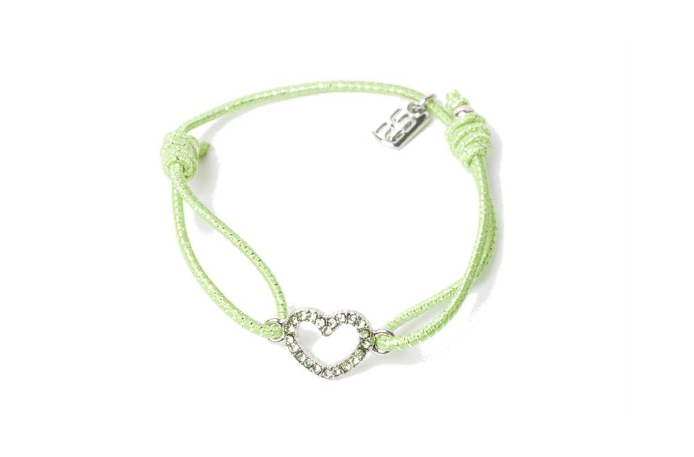 THE ELASTIC | SOFT GREEN & CHARM HEART STRASS