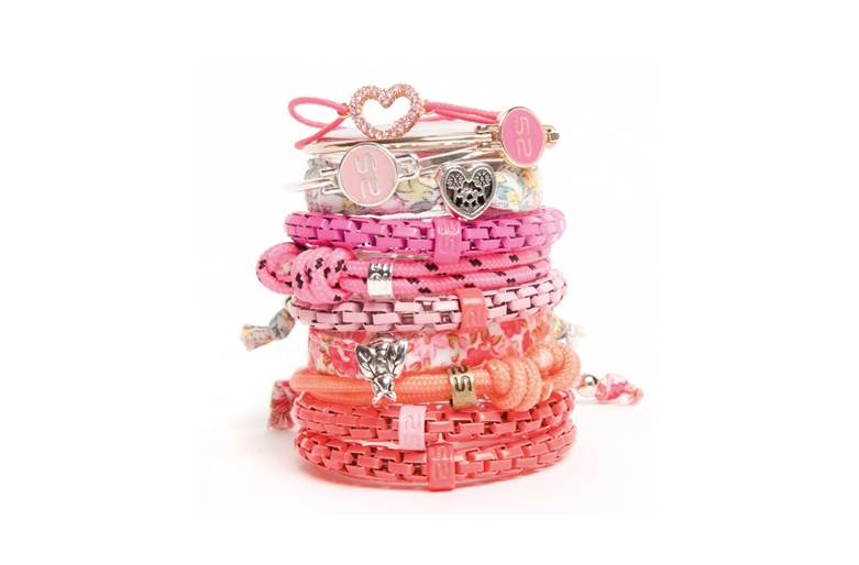 The Bangle Gold & Pink | Silis Bracelet for Girls