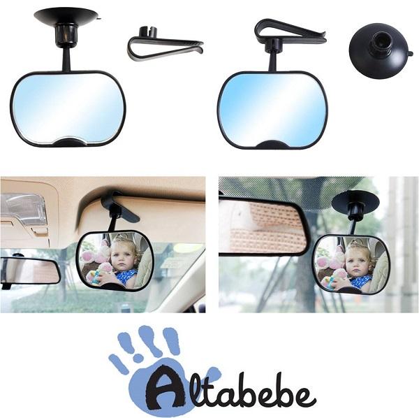 Binnenspiegel auto Altabebe met clip en zuipnap