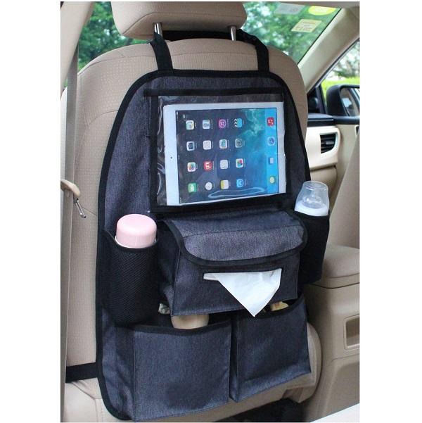 Auto organizer met tissue- & tablethouder - Altabebe - Grijs
