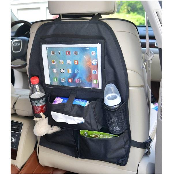 Auto organizer met tissue- & tablethouder - Altabebe - Zwart
